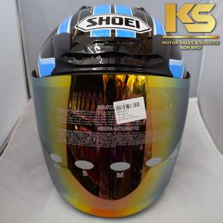 SHOEI J-FORCE 4 MODERNO (BLACK/BLUE)