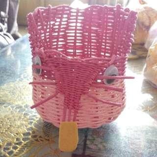 老鼠造型置物籃