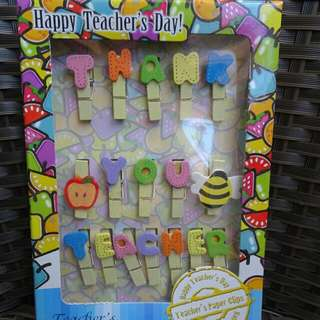 Teachers' Day Clothespins