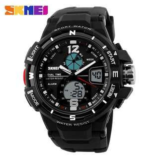 SKMEI Jam Tangan Sporty Digital Analog Pria - AD1148 - Black White