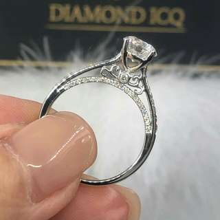 💥 求婚首選閃令令卡裝鑽石 💍 向心儀對象表白心意 ✔ 🌸GiA證書1.01卡 E色 SI1 NON💖