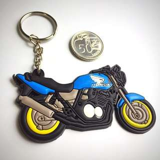 BN Honda Super Four Rubber Keychain