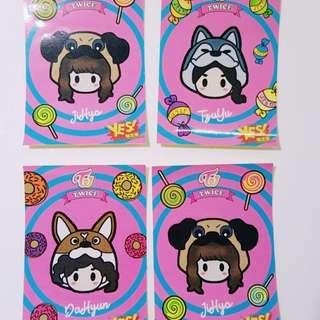 Twice 專輯yes card 貼紙