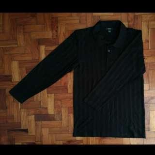 Black Long Sleeves Polo Shirt for Men