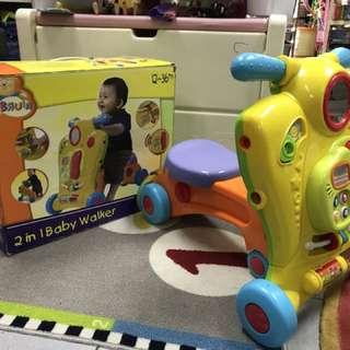 Bruin 2-in-1 Baby Walker & Ride-on