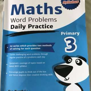 Maths Word Problems Practice book
