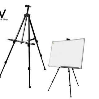Aluminum Folding Easel Stand with Blue Carry Bag