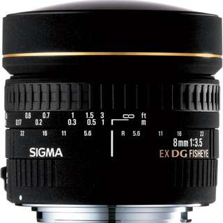 Sigma 8mm F3.5 EX DG Fisheye (Nikon Mount)