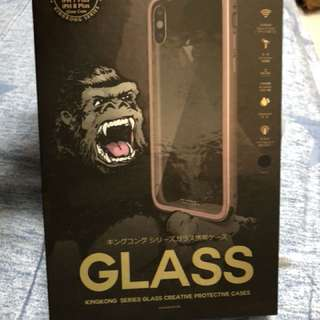 I phone 8 plus case 透明玻璃硬殻
