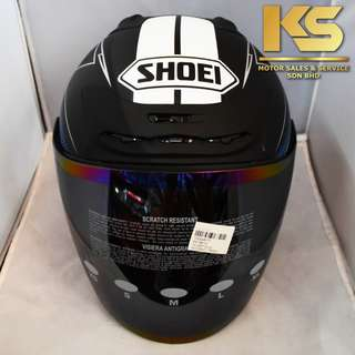 SHOEI J-FORCE 4 MODERNO (BLACK/BLUE MATTE)