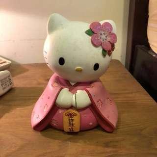hello kitty 陶瓷娃娃 撲滿 存錢筒
