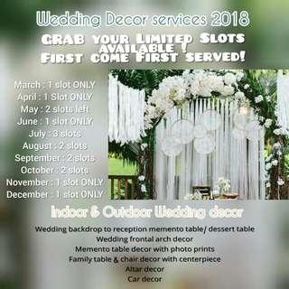 PROMO Wedding Decor Services 2018
