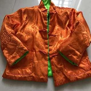 賀年衫 橙色綠色雙面