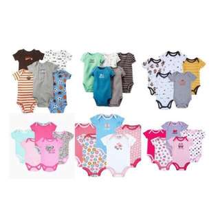 [READY STOCK] [5pcs in a pack] Baby Boy/Girls Carter's Romper