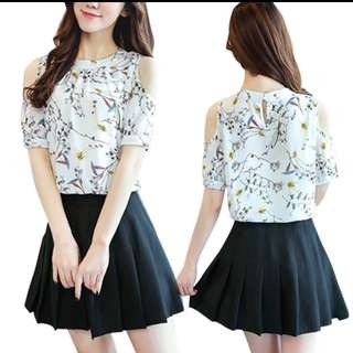 Floral Off Shoulder Top Free Shipping