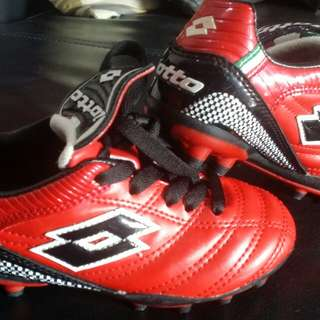 Authentic kids Lotto Soccer boots