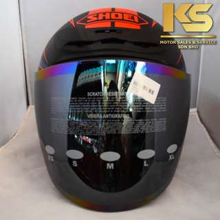SHOEI J-FORCE 4 MODERNO (BLACK/RED MATTE)