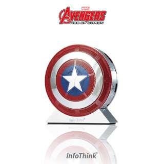 Marvel 藍復仇者聯盟2 美國隊長盾牌 ( 行動電源 7800mAh + 藍芽喇叭功能 )