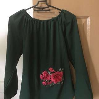 BN Embroidery long/short sleeve Blouse