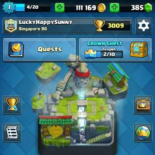 Perfect Level 1 Arena 10 Clash Royale Account