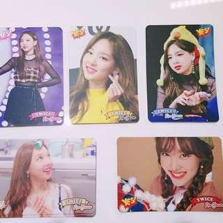 Twice專輯yes card Na Yeon 白卡