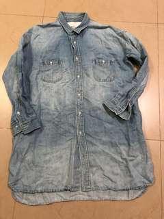 Veritecoeur denim blouse tunic