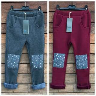 *NEW* 2x Girls Thick legging pants size 6