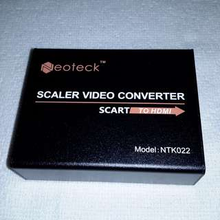 (Brand New) Neoteck Full HD 1080P SCART To HDMI Video Converter & Upscaler - $18