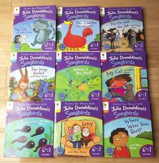 Songbirds Phonics, by Julia Donaldson-set of 9 books