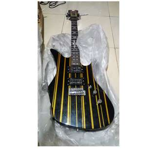 Gitar Elektrik Schecter Synyster Gates Avenged Sevenfold Down Tremolo Series SATIN GOLD