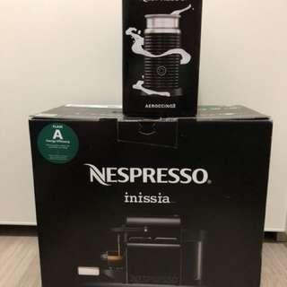 nespresso inissia (black) + aeroccino 3 打奶器