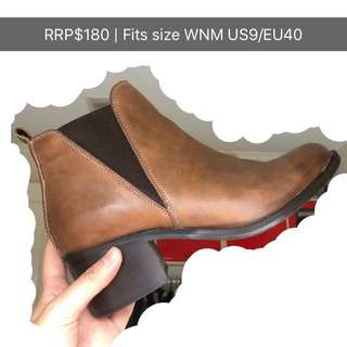 Genuine Leather Brown Tan Boots