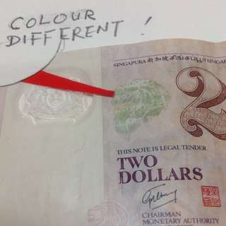 Singapore $2 Note Currency