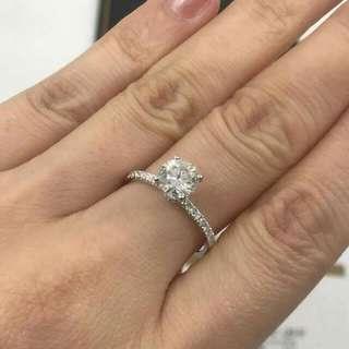 🌹求婚好推介高色高淨度鑽石💎OverSize 最強D色 🌸GiA證書1.20卡D色VS1 3EX NON💖