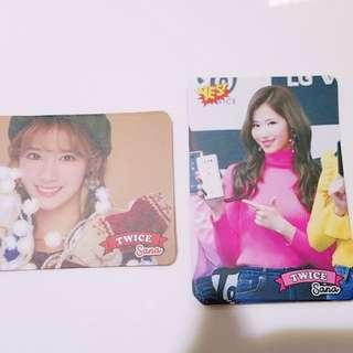 Twice專輯yes card Sana