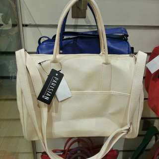 PARISIAN Hand Bag (White) for P350
