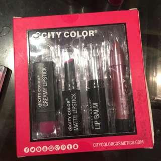 City Color Lipsticks