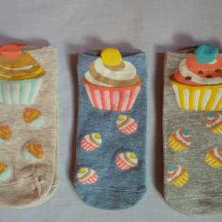 SALE! Korean Ankle socks -cupcakes