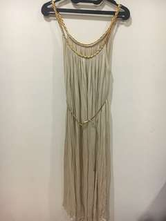 Flare gold dress