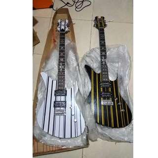 Gitar Elektrik Schecter Synyster Gates Avenged Sevenfold Down Tremolo Series SATIN GOLD