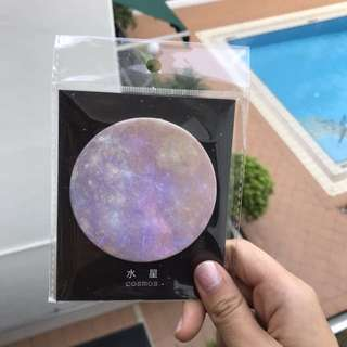 Galaxy cosmos sticky note pad