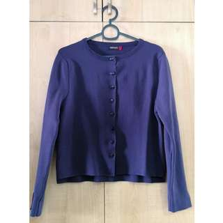 Blue-Violet Knit Cardigan