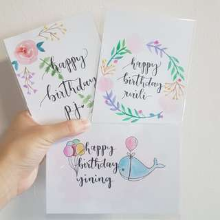 [CUSTOMISE] Watercolour Cards