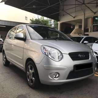 Super Fuel Economy Picanto 1.1A Car For Rent $234/Week (For Personal Use Only)