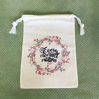 Every Moment Matters 🎀 ~ Drawstring pouch