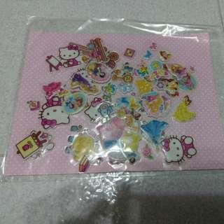 立體貼紙(Hello Kitty + 公主)
