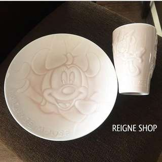 MINNIE MOUSE GLASS AND PLATE SET