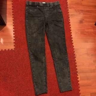 🚚 Pull&bear灰色彈性牛仔褲