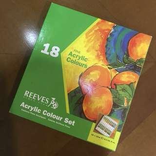 Reeves Acrylic Colour Set 18 (Cat Akrilik)
