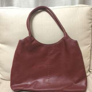 Authentic LIZ CLAIBORNE Maroon Leather Shoulder Bag